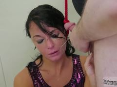 Russian extreme throat first time Talent Ho